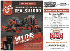Kubota  ORANGE TRUCKLOAD EVENT