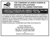 THE TOWNSHIP OF NORTH HURON IS SEEKING APPLICATIONS