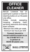 OFFICE CLEANER wanted