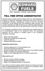 FULL-TIME OFFICE ADMINISTRATOR wanted