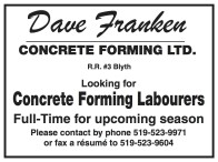 Looking for Concrete Forming Labourers